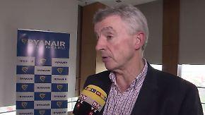 """Ryanair-Chef O'Leary im n-tv Interview: """"Es gibt keinen Wettbewerb im Niedrigpreissegment"""""""