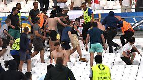Wilde Schlägereien in Marseille: Randale überschatten Spiel zwischen England und Russland