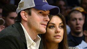 Ashton Kutcher und Mila Kunis freuen sich auf Nachwuchs. Foto:Michael Nelson