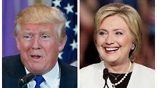 Absturz innerhalb eines Monats: Trump und Clinton werden immer unbeliebter