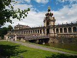 Der Zwinger ist eines der schönsten Bauwerke in Dresdens Altstadt.