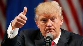 Seinen zunehmenden Erfolg findet Donald Trump richtig gut.