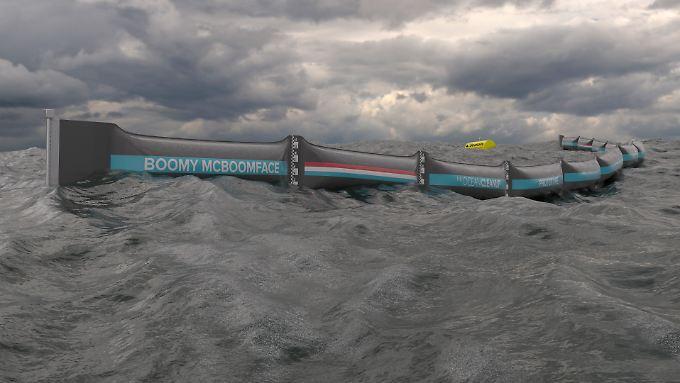 Die schwimmende Barriere soll ein Gewicht von bis zu 80 Tonnen halten können.