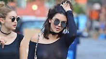 Hubs, ein Busenblitzer: Kendall Jenner zeigt ihr Nippel-Piercing