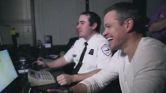 """Werbung für neuen Spionagefilm: Matt Damon legt Passanten mit """"Topsecret-Aktion"""" rein"""