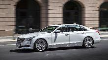 Mit einer Länge von 5,20 Meter übertrifft der Cadillac CT6 die Oberklasse-Konkurrenz aus Deutschland.