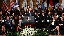 Weiße Polizisten klatschen nicht: Frustrierter Obama wagt Gratwanderung
