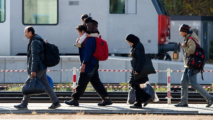 Flüchtlinge im bayerischen Passau - sie kamen vor allem aus Syrien, Afghanistan und dem Irak.
