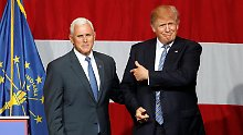 Vorstellung verschoben: Trump geht wohl mit Pence ins Rennen