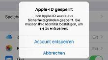 Was ist da los?: iPhone-Nutzer melden gesperrte Apple-ID