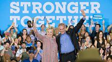 Ein gutes Team? Hillary Clinton und Tim Kaine bei einer Wahlkampfveranstaltung