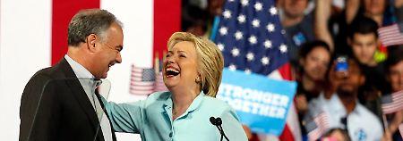Wahlkampf der Anti-Trumps: Clinton und ihr Vize preisen sich