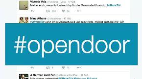Bange Stunden nach Amoklauf: Auch Hotels, Moscheen und Ämter haben eine #OffeneTür