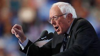 Vereint gegen Trump: Sanders ruft US-Demokraten zu Unterstützung für Clinton auf