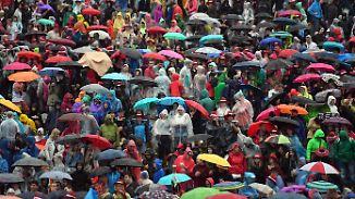 Regen und Gewitter: Schlechtwetter hält sich hartnäckig