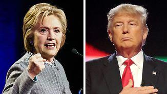 Schmutzige Wahlschlacht in den USA: Clinton und Trump setzen auf Angriff