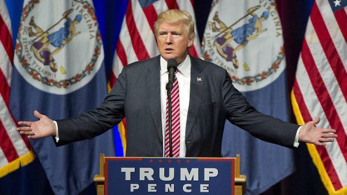 Egal, was schief läuft - Donald Trump ist sich im Wahlkampf nie einer Schuld bewusst.
