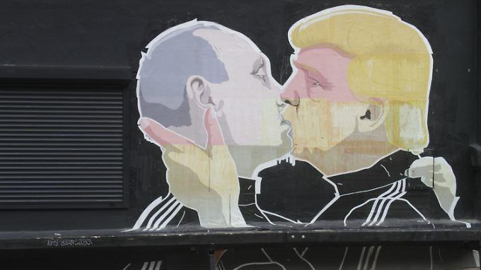 """""""Trumptin"""": Wladimir Putin und Donald Trump sind Brüder in Geist und Sprache."""