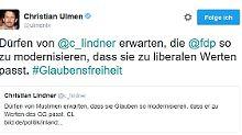 """""""Respekt, dass Sie sich einschalten"""": Ulmen und Lindner streiten über den Islam"""