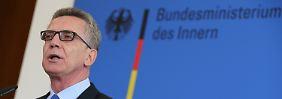 Kampf gegen den Terror: De Maizière will Ausländerrecht verschärfen