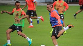 Franck Ribéry kann wieder mittrainieren.