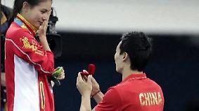 """""""Tinder""""-Nutzung in Rio verdoppelt: Turmspringerin bekommt Heiratsantrag auf Olympia-Treppchen"""