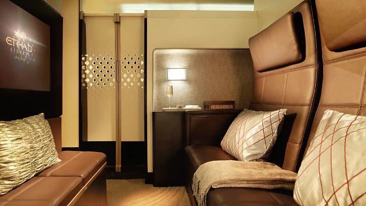 Einer von drei Räumen in der größten Suite, die Etihad anbietet.