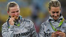Tatsächlich Olympiasiegerin: Neid und die DFB-Frauen vergolden ihre Ära