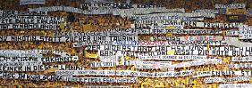 Beim Spiel Dynamo gegen RB Leipzig: Abgetrennter Bullenkopf landet vor Tribüne