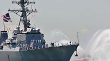 Vorfall mit iranischen Schiffen: US-Zerstörer entgeht knapp einer Kollision