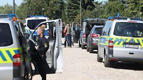 Mit einem Großaufgebot war die Polizei am Morgen angerückt.
