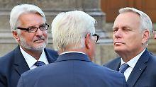 Steinmeier, Ayrault, Waszczykowski: Weimarer Dreieck soll wiederbelebt werden