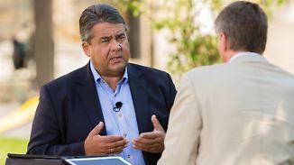 Wahlkampf im Sommerinterview: Gabriel greift Merkels Flüchtlingspolitik scharf an