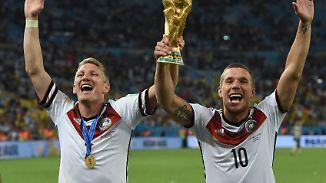 Highlights einer besonderen Freundschaft: Schweinsteiger und Podolski sagen Servus und Tschö