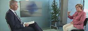 """Merkel im Gespräch mit Peter Kloeppel: """"Kontroversen muss ich aushalten"""""""