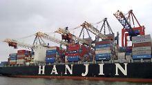 Die Schiffe der pleitegegangenen Hanjin-Reederei stecken fest. Das stört die globale Handelskette.