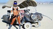 """So feiern Stars beim """"Burning Man"""": Cara, Katy und Paris fackeln die Wüste ab"""