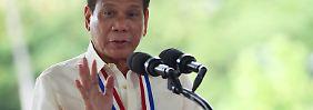 """""""Ich scheiße auf jeden, der mein Verhalten beobachtet"""", sagt Duterte."""