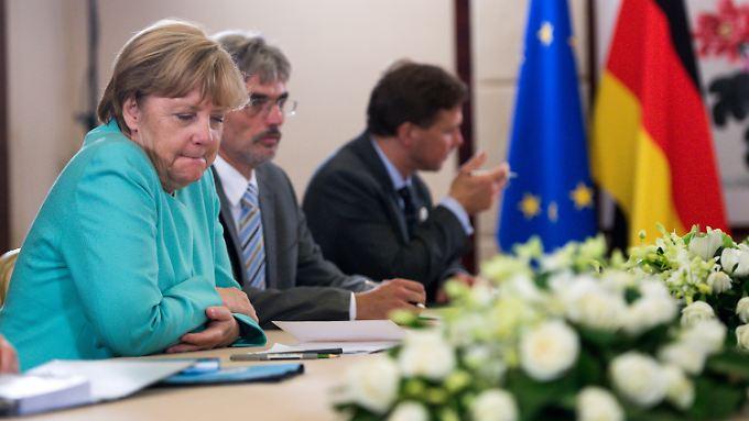Zuversicht sieht anders aus: Kanzlerin Merkel beim G20-Gipfel im chinesischen Hangzhou.