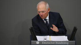 Bundesfinanzminister Schäuble ist einer der größten Befürworter der gesetzlichen Schuldenbremse.
