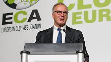 Karl-Heinz Rummenigge zeigte sich zufrieden mit den Verhandlungsergebnissen zwischen der Eca und der Uefa.