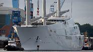 """Die """"Sailing Yacht A"""" schwimmt: Größte Segeljacht der Welt dockt aus"""