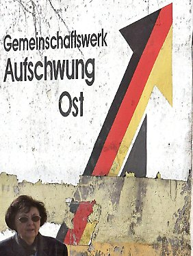 Verwitterte Willensbekundung in Magdeburg.