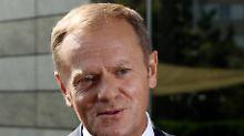 """Business as usual keine Option"": Tusk: EU-Gipfel muss Wendepunkt werden"