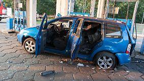Bei diesem VW Touran explodierte der Gastank.