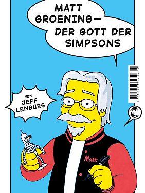 """""""Matt Groening - Der Gott der Simpsons"""" ist bei Tropen erschienen, 176 Seiten in Broschur, 16,95 Euro."""
