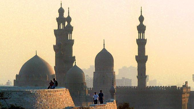 Blick auf die Sultan Hassan Moschee in Kairo.