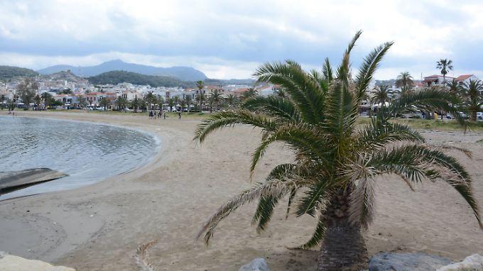 Badestrand Reyhmno auf Kreta.