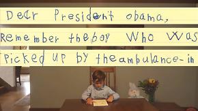 Schicksal des syrischen Jungen Omran: Sechsjähriger Alex schreibt rührenden Brief an Obama