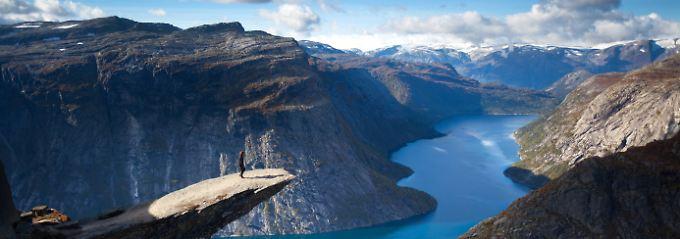 Mit Flipflops auf den Berg: Norwegens Touristen riskieren oft zu viel